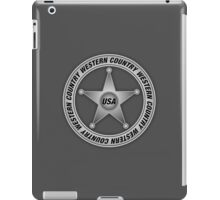 Western Country music Sheriff Sign iPad Case/Skin