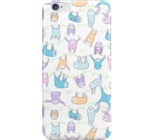 Lazy Sloths Doodle - Pastel and Kawaii iPhone Case/Skin