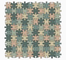 Jigsaw Puzzle Pattern in Calm Color Palette Kids Clothes