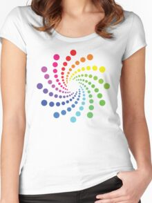 Circular Spectrum Pattern Women's Fitted Scoop T-Shirt