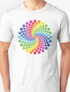 Circular Spectrum Pattern T-Shirt