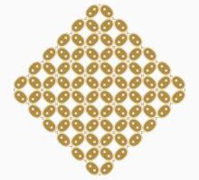 Javanese Batik Kawung Oval Diamond Chain (Gold) Kids Tee