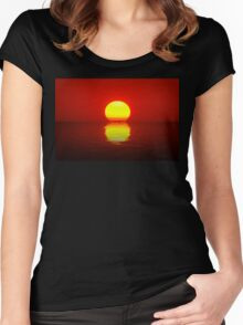 Egg Yolk Sunset Women's Fitted Scoop T-Shirt
