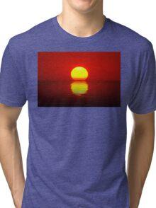 Egg Yolk Sunset Tri-blend T-Shirt