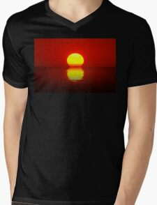 Egg Yolk Sunset Mens V-Neck T-Shirt