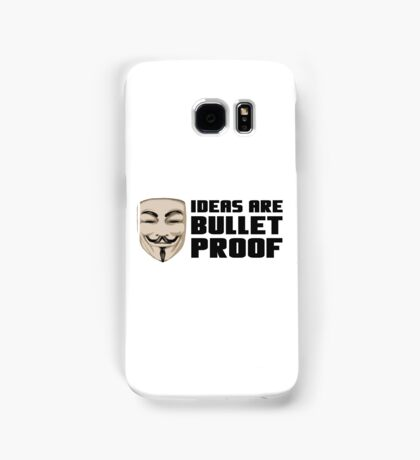 Anonymous ideas are bullet proof Samsung Galaxy Case/Skin
