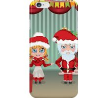 Santa and Mrs Claus in the House iPhone Case/Skin