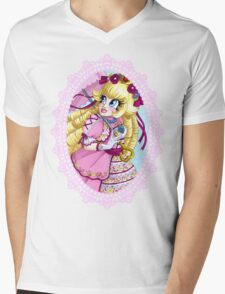 Lolita Princess Peach Mens V-Neck T-Shirt