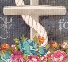 Nautical Anchor & Roses Beach Life   Sticker