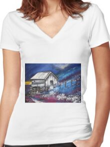 In Norway Women's Fitted V-Neck T-Shirt