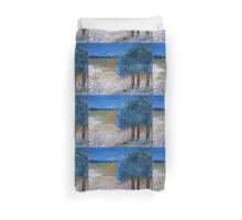 Blue trees Duvet Cover