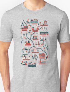 Walking Map The Walking Dead Unisex T-Shirt