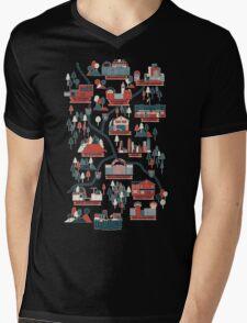 Walking Map The Walking Dead Mens V-Neck T-Shirt
