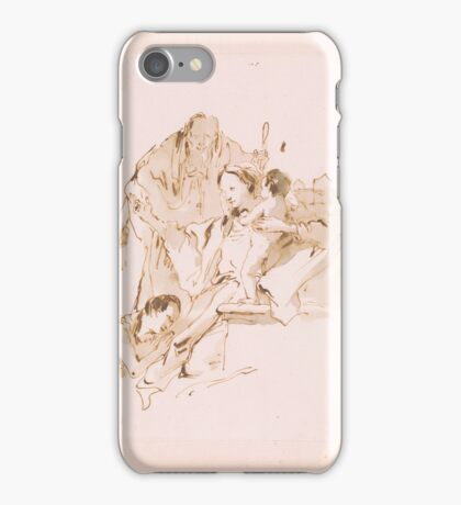 Giovanni Battista Tiepolo,  Holy Family with the Young St. John.  iPhone Case/Skin