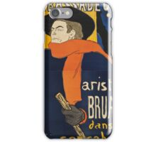 Henri de Toulouse-Lautrec, AMBASSADEURS, ARISTIDE BRUANT iPhone Case/Skin