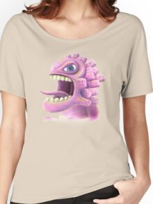 Funny monster lizard dragon rose Women's Relaxed Fit T-Shirt