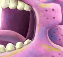 Funny monster lizard dragon rose Sticker