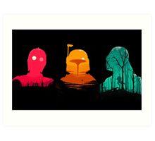 Cartoon Star Wars Characters Art Print