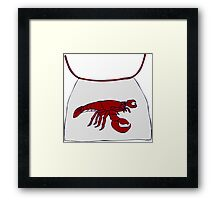 Lobster Bib Framed Print
