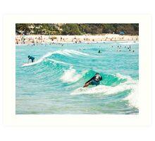 Sneaky Five : Sliding all the way to Main Beach Art Print