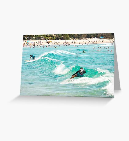 Sneaky Five : Sliding all the way to Main Beach Greeting Card