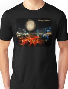 Fireworks By The Bay (T/Singapore/Chest) Unisex T-Shirt