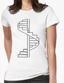 Where do you go? Womens Fitted T-Shirt