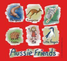 Me and My Aussie Friends - Girl Kids Tee