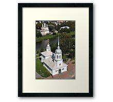 temples aerial view Framed Print