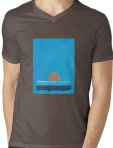 Orange sun Mens V-Neck T-Shirt