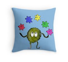 Juggling Star Candy Throw Pillow