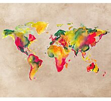 World Map 2026 b Photographic Print