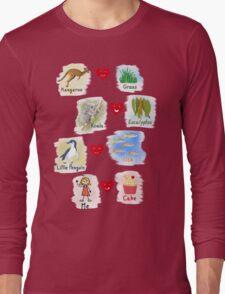Aussie Friends love food - Girl Long Sleeve T-Shirt
