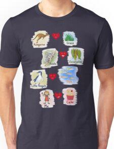 Aussie Friends love food - Girl Unisex T-Shirt