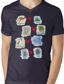 Aussie Friends love food - Boy Mens V-Neck T-Shirt