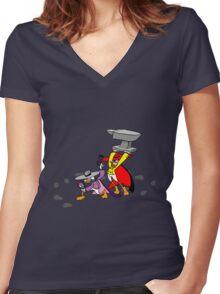 Let's Get Dangerous! Women's Fitted V-Neck T-Shirt