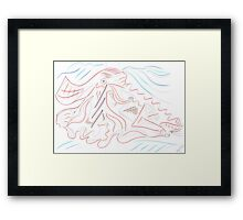 0910 - Red Fish Framed Print