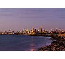 Melbourne, Australia at Sunset Photographic Print