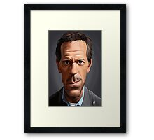 Celebrity Sunday - Hugh Laurie Framed Print