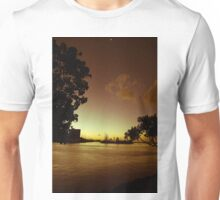 Golden Yacht Harbor Sunset Unisex T-Shirt