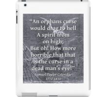 An Orphans Curse - Coleridge iPad Case/Skin