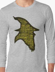 Gandalf Silhouette Long Sleeve T-Shirt