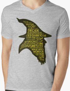 Gandalf Silhouette Mens V-Neck T-Shirt