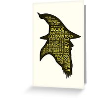 Gandalf Silhouette Greeting Card