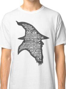 gandalf silhouette Black/White version Classic T-Shirt