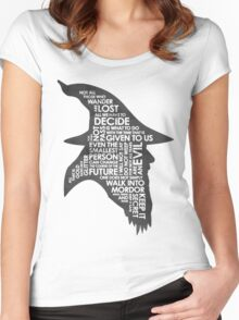 gandalf silhouette Black/White version Women's Fitted Scoop T-Shirt