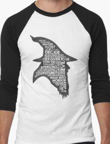 gandalf silhouette Black/White version Men's Baseball ¾ T-Shirt