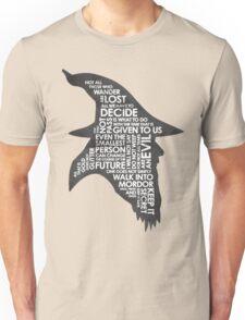 gandalf silhouette Black/White version Unisex T-Shirt
