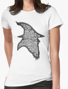 gandalf silhouette Black/White version Womens Fitted T-Shirt