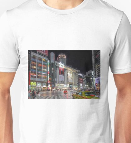 Bright Night Shibuya Intersection Unisex T-Shirt